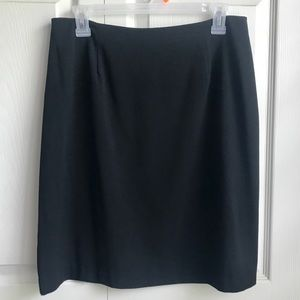 Fashion Bug Black Pencil Skirt with Slit In Back